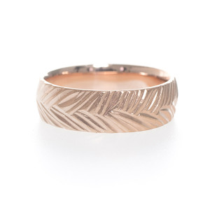 Rose Gold Woven Wedding Band by Kendra Renee