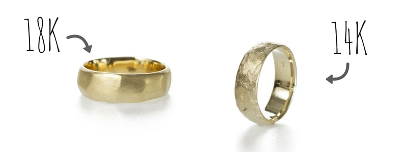 difference in color between 18k gold and 14k gold by Kendra Renee Jewelry