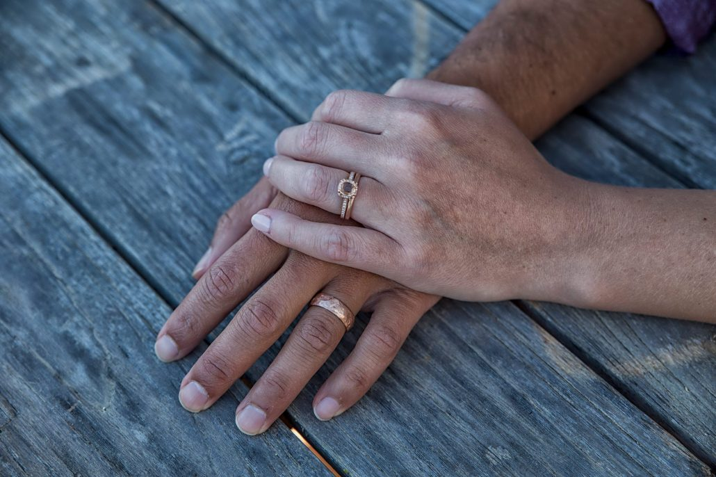 Comfortable wedding rings