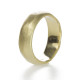 18K Yellow gold wedding band with soft, organic texture- handmade by artist Kendra Renee