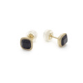 14K and Onyx Earrings by Kendra Renee