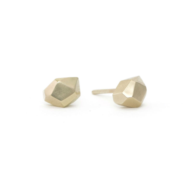 gold stud earrings by Kendra Renee