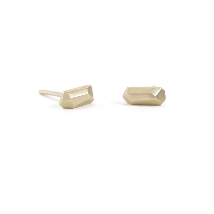 Tiny 14K Gold Earrings by Kendra Renee
