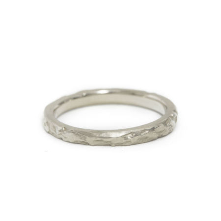 14K White Gold wedding band by Kendra Renee
