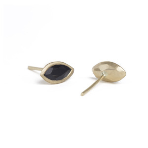 Onyx and gold studs by Kendra Rene