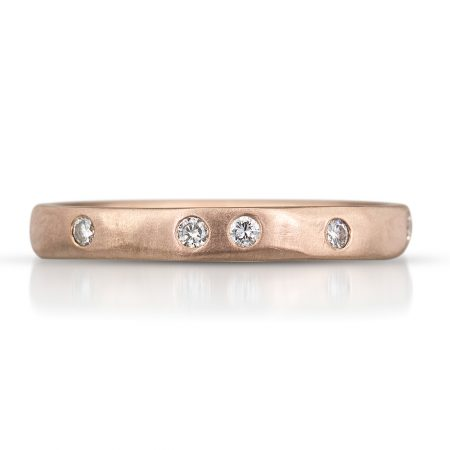 Rose gold wedding band by Kendra Renee
