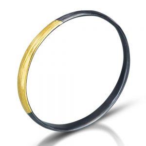 Handmade gold and silver bangle