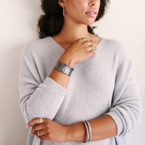 Silver bracelets by Kendra Renee
