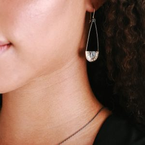 Gold, silver and diamond statement earrings