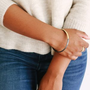 Gold and silver handmade bangle by Kendra Renee