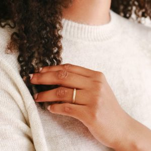 Simple, organic gold ring
