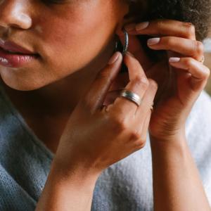 Woven Hoop Earrrings